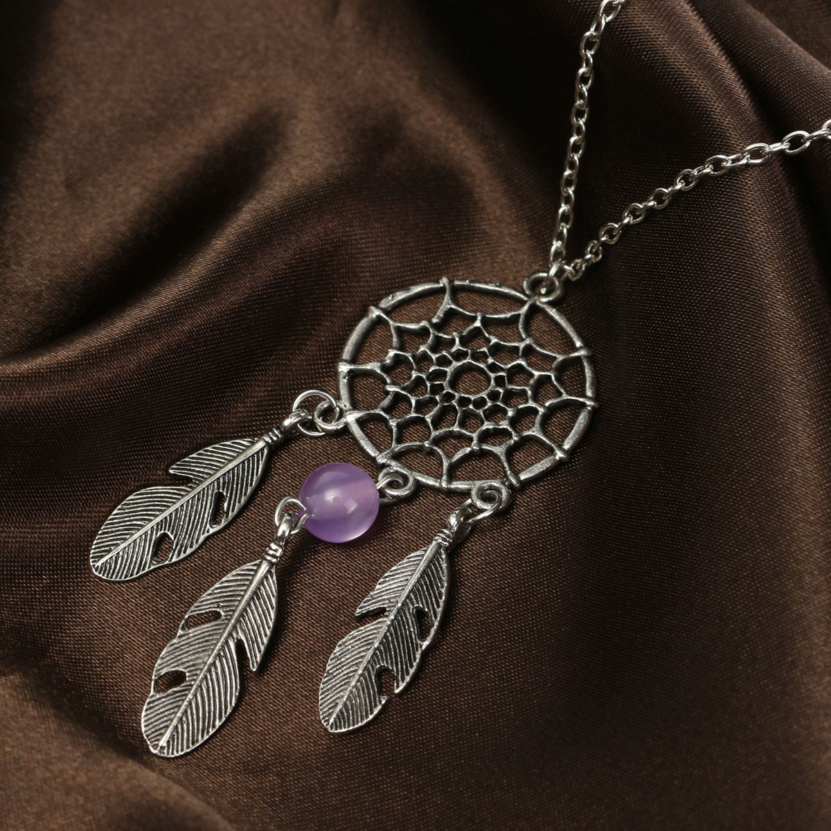 Retro Vintage Dreamcatcher Sweater Women Alloy Necklace Jewelry
