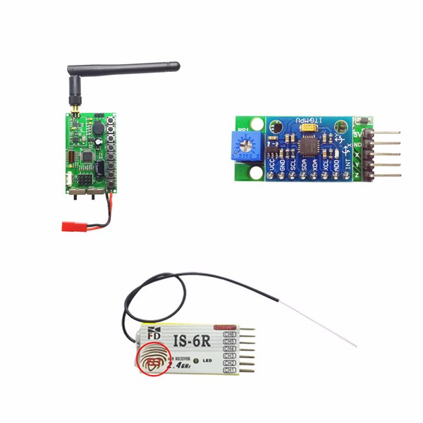 2.4G 6CH IS-6R Receiver Transmitter Combo 3-Axis Gravity Sensor Head Tracking Gimbal Control Module