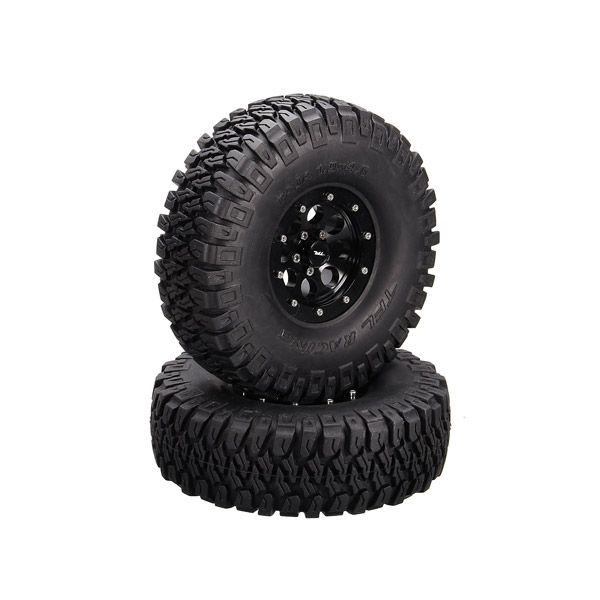 TFL 1/10 RC Car Spare Parts 1.9*4.6 Inch Emulation 8-Hole Tires 2PCS C1401-44