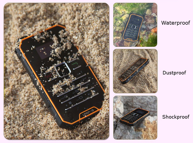 OINOM A1300 0.96-inch Waterproof IP67 Ultra-thin Pocket Mini Card Mobile Phone