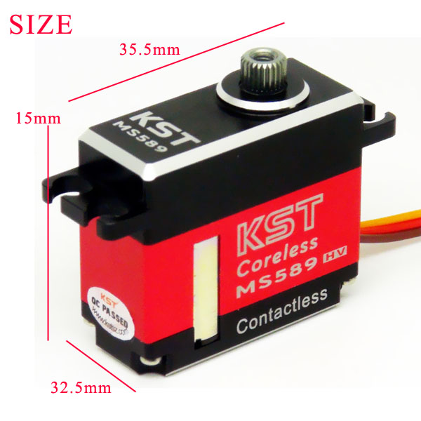 KST MS589 Mini Metal Gear Digital Servo for 500 RC Helicopter