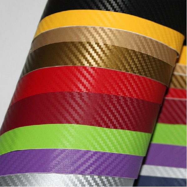 3D Stereoscopic Carbon Fiber Covering Film Black Yellow Purple For RC Airplane