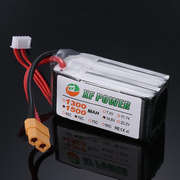 XF Power 14.8V 1500mAh 70C 4S Lipo Battery XT60 Plug