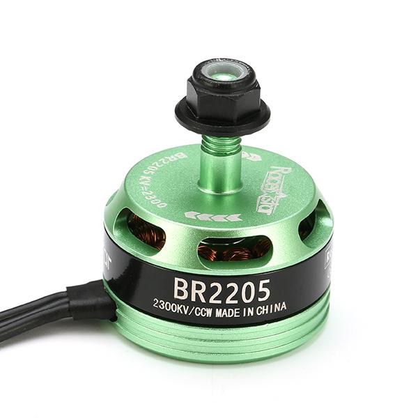 4X Racerstar Racing Edition 2205 BR2205 2300KV 2-4S Brushless Motor Green For 210 X220 FPV Racing