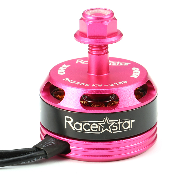4X Racerstar Racing Edition 2205 BR2205 2300KV 2-4S Brushless Motor Pink For 210 X220 250 280
