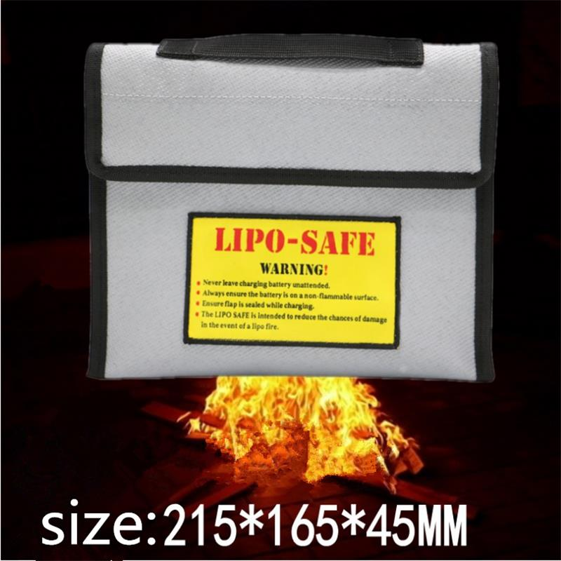 New Surface Fireproof Explosion-proof Li-po Battery Safety Protective Bag 215*165*45MM