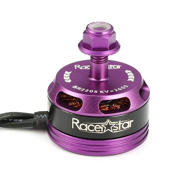 4X Racerstar Racing Edition 2205 BR2205 2600KV 2-4S Brushless Motor Purple For 210 X220 250 280