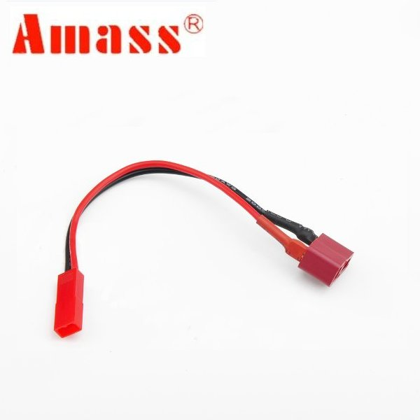 5PCS Amass T Plug To JST Plug Female to Female Battery Adapter with 20AWG 10CM Cable