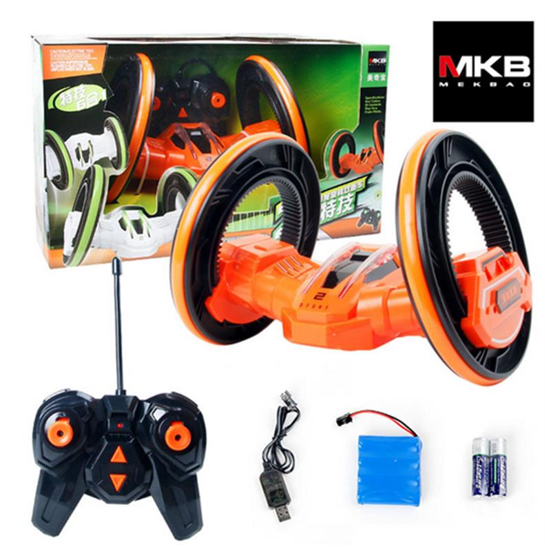 MKB RC LED High-speed Space Stunt Car Anti-wrestling 360 Degree Rotating Rolling 4 Wheel Vehicles