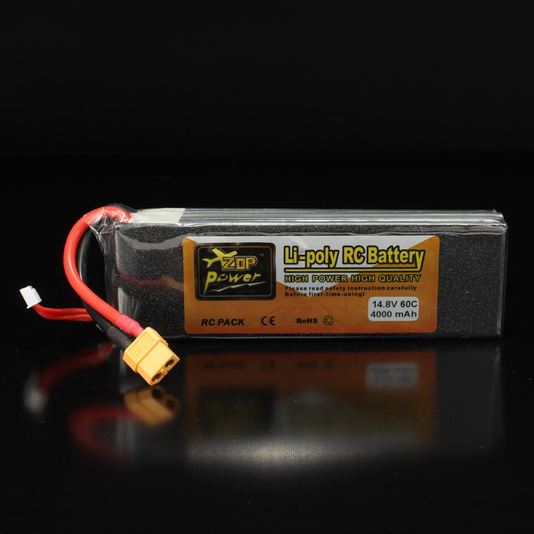 ZOP Power 14.8V 4000mAh 4S 60C Lipo Battery XT60 Plug