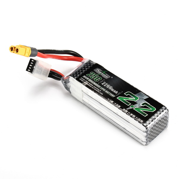 Charsoon 14.8V 2200mAh 25C 4S Lipo Battery XT60 Plug With Strap