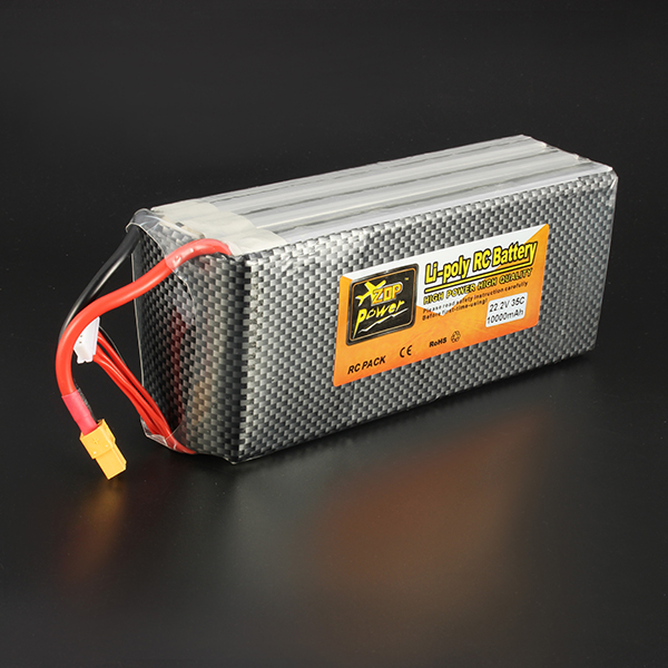 ZOP Power 22.2V 10000mAh  6S 35C Li-po Battery XT60 Plug