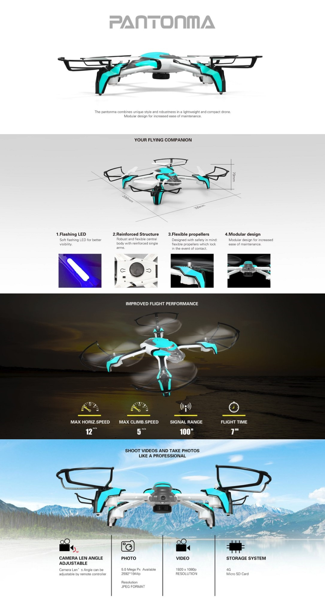 KD Kai Deng K80 Pantonma WIFI FPV With 2MP Camera Anti-collision Induction RC Quadcopter RTF