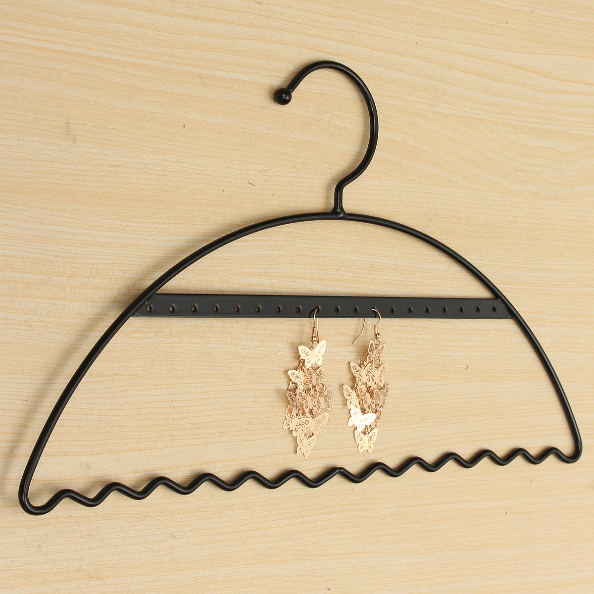 Metal Clothes Stand Shaped Earrings Jewelry Display Hanging Rack