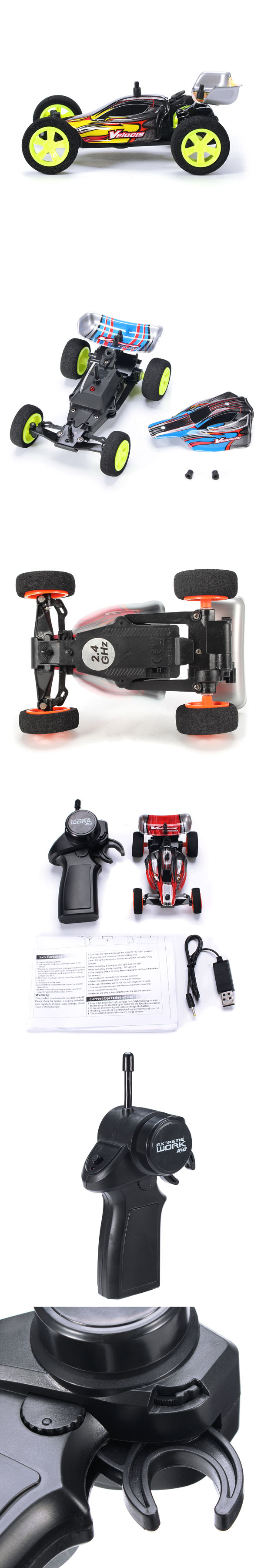 2pcs Velocis 1/32 2.4G RC Racing Car Mutiplayer in Parallel Operate USB Charging Edition