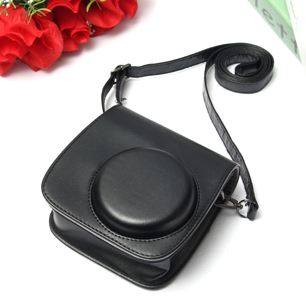 Candy Colorful PU Leather Case Bag Accessory For Polaroid Mini 8 Instant Camera